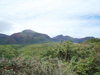 ボルケーノハイウェイ展望台からの那須連山